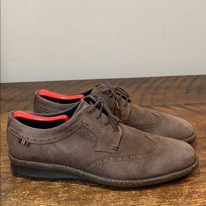 ECCO Brown Suede Derby Shoes Size 44 - US 10-10.5